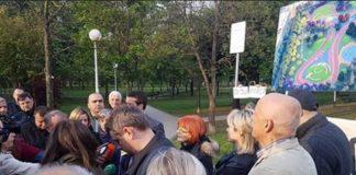 Park Savica - prosvjed
