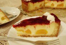 Torta s breskvama i malinama