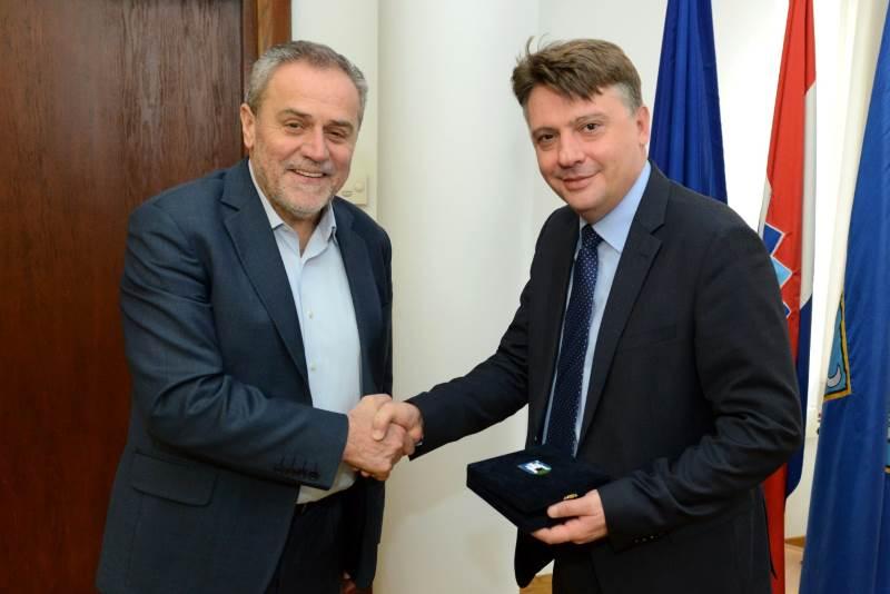 Milan Bandić i Petre Šilegov