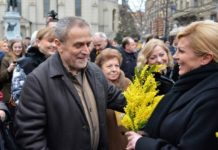 Dan mimoza - Milan Bandić i Kolinda Grabar-Kitarović