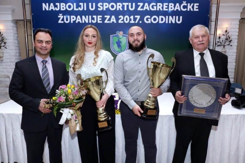 Proglašeni najbolji sportaši Zagrebačke županije za 2017. godinu