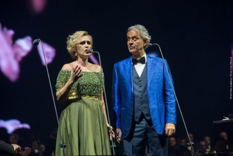 Ivana Vrdoljak Vanna i Andrea Bocelli u Areni