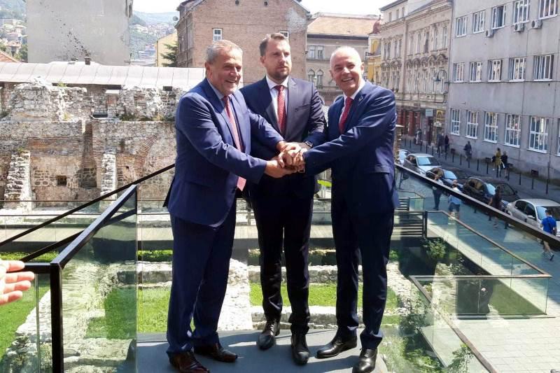 Abdulah Skaka, Milan Bandić i Zoran Radojičić