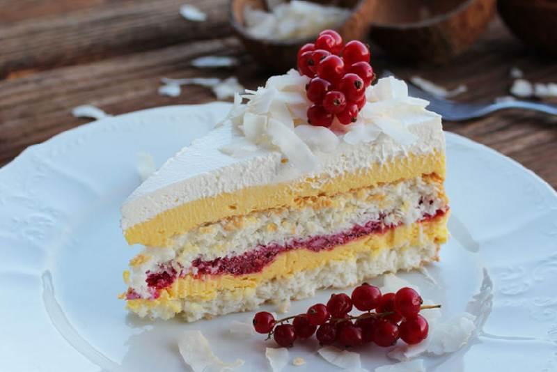 Linolada torta s kokosom i malinama