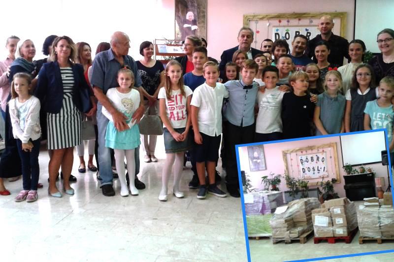 Grad Zagreb učenicima osnovnih škola u Petrinji darovao udžbenike