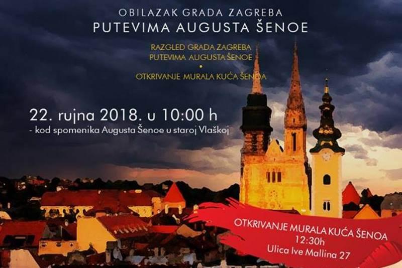 """PUTEVIMA AUGUSTA ŠENOE: Besplatan razgled grada i predstavljanje projekta """"Mural Kuća Šenoa"""""""