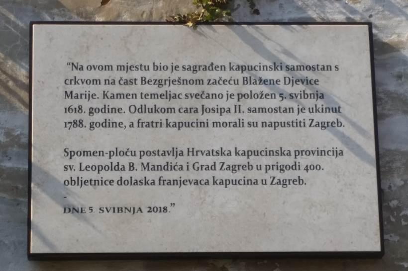 U POVODU 400. GODIŠNJICE: Otkrivena spomen ploča franjevcima kapucinima na Gornjem Gradu