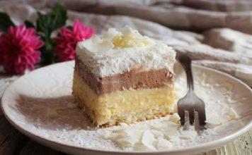 LEDENE KOKOS KOCKE: Ukusan kremasti kolač od kokosa i čokoladne puding kreme