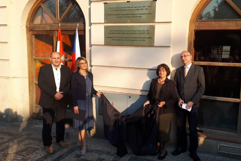 UOČI 180. GODIŠNJICE ROĐENJA: U Pragu otkrivena spomen-ploča Augustu Šenoi