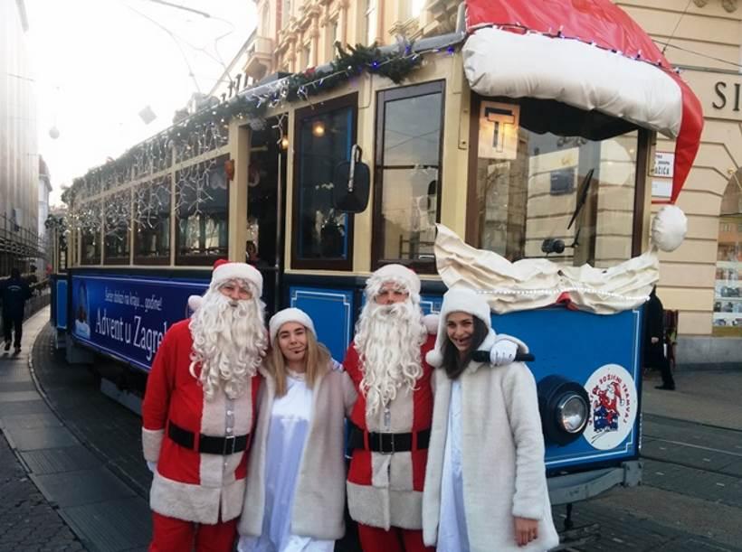 ZET: Veseli božićni tramvaj od 1. prosinca ponovno na zagrebačkim ulicama