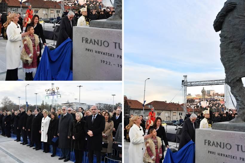 Otkriven spomenik prvom hrvatskom predsjedniku dr. Franji Tuđmanu
