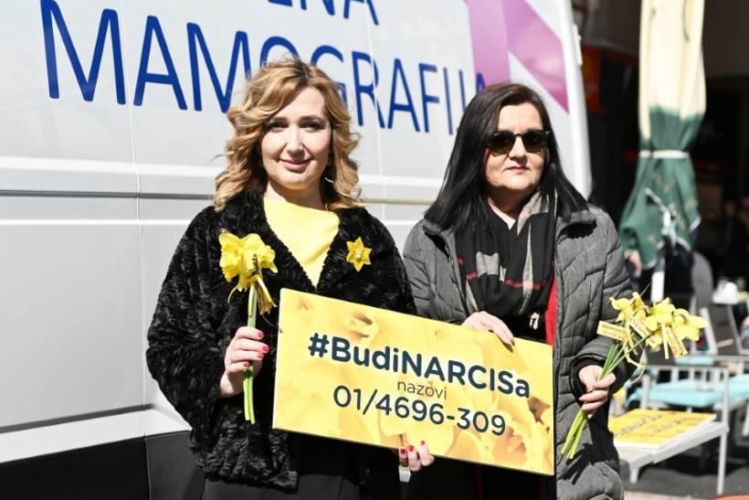 OBILJEŽAVANJE DANA NARCISA započelo besplatnim mamografskim pregledima na Jarunskoj tržnici
