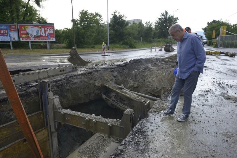 Gradonačelnik provjerio tijek radova na Slavonskoj aveniji i u Čulinečkoj