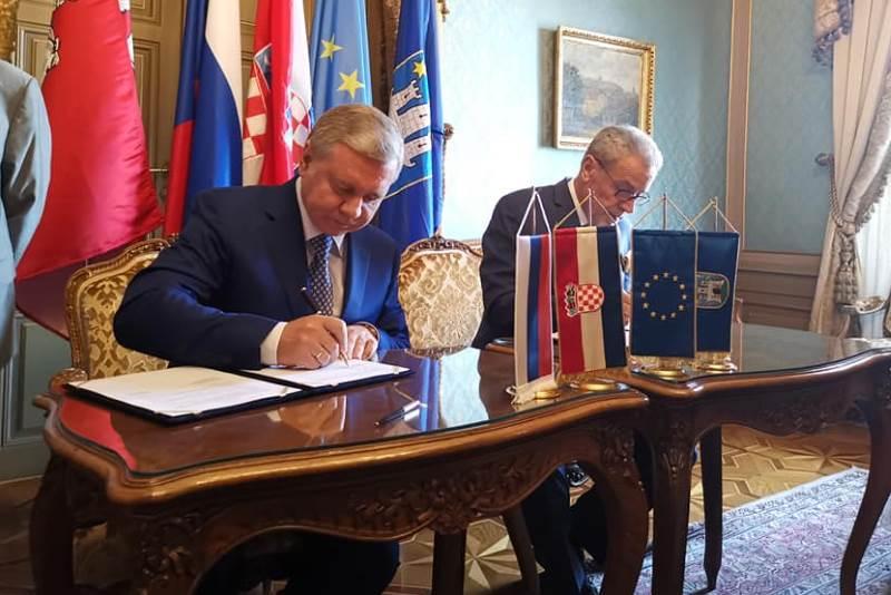 SURADNJA MOSKVE I ZAGREBA: Sergej Čeremin i Milan Bandić u palači Dverce potpisali ugovor