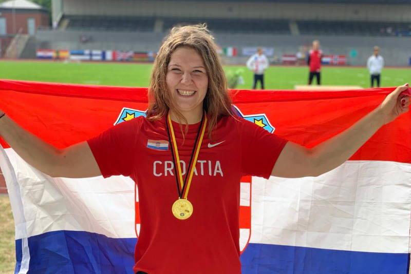 ZLATNA MEDALJA: Laura Štefanac osvojila je 1. mjesto na Europskom prvenstvu u atletici za gluhe