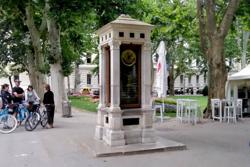 METEOROLOŠKI STUP NA ZRINJEVCU: Vrijedan ukras najljepšeg  zagrebačkog parka