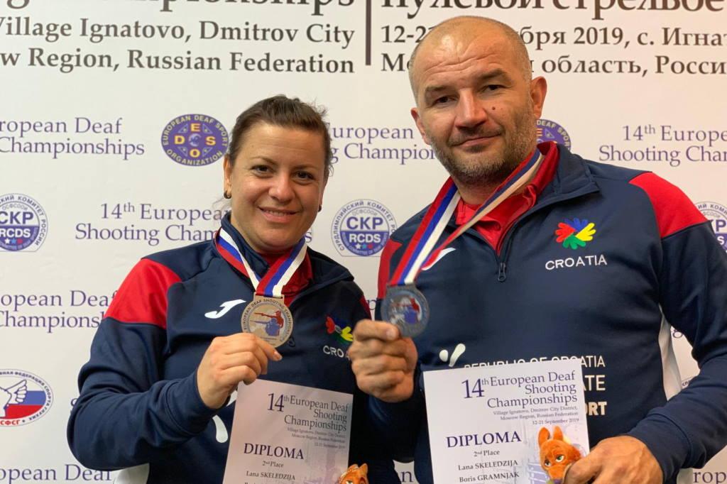 JOŠ JEDNA MEDALJA ZA HRVATSKU: Boris Gramljak i Lana Skeledžija osvojili srebro na EP u Rusiji