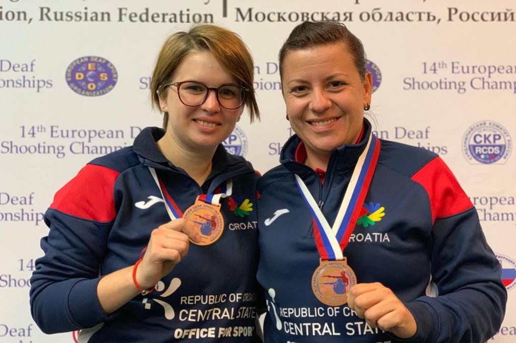 Hrvatske predstavnice Lana Skeledžija i Vida Puškadija osvojile medalje na EP gluhih u streljaštvu