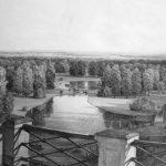 Pogled s Vidikovca na Gornje i Donje jezero. Litografija Ivana Zaschea iz 1853.