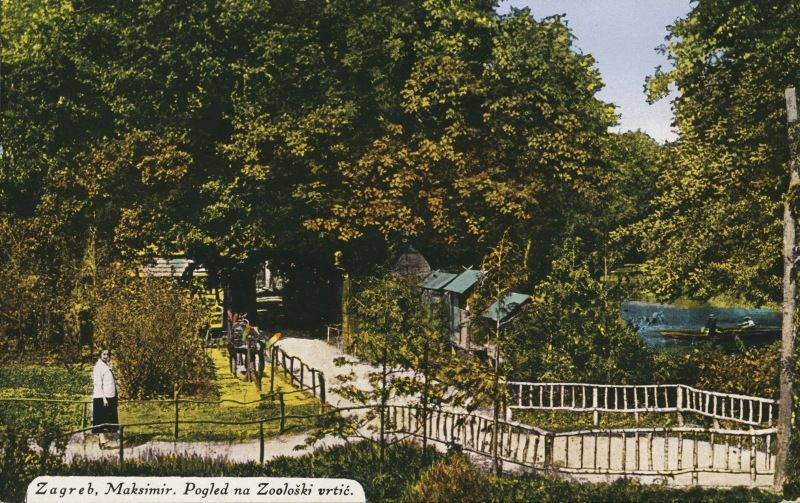 Zagreb, Maksimir, Pogled na Zoološki vrtić, 1926.