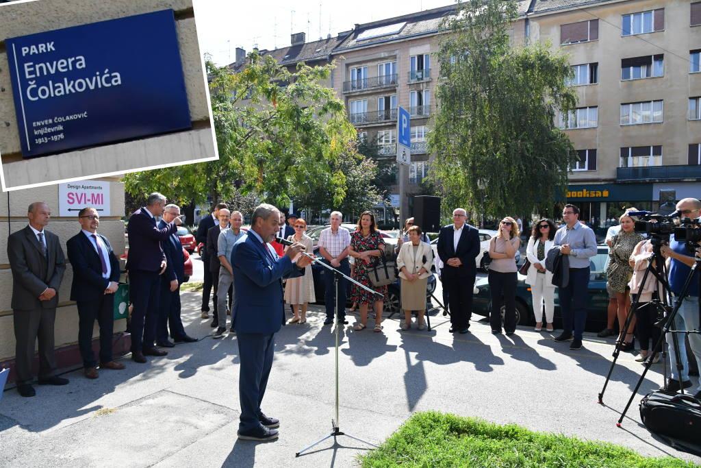 Park u Martićevoj ulici nazvan po Enveru Čolakoviću, Bandić danas otkrio ploču