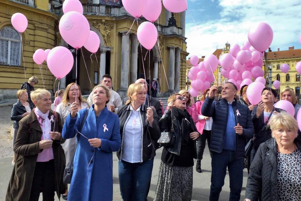 Po 20. put u Zagreba je održana javnozdravstvena manifestacijaDan ružičaste vrpce