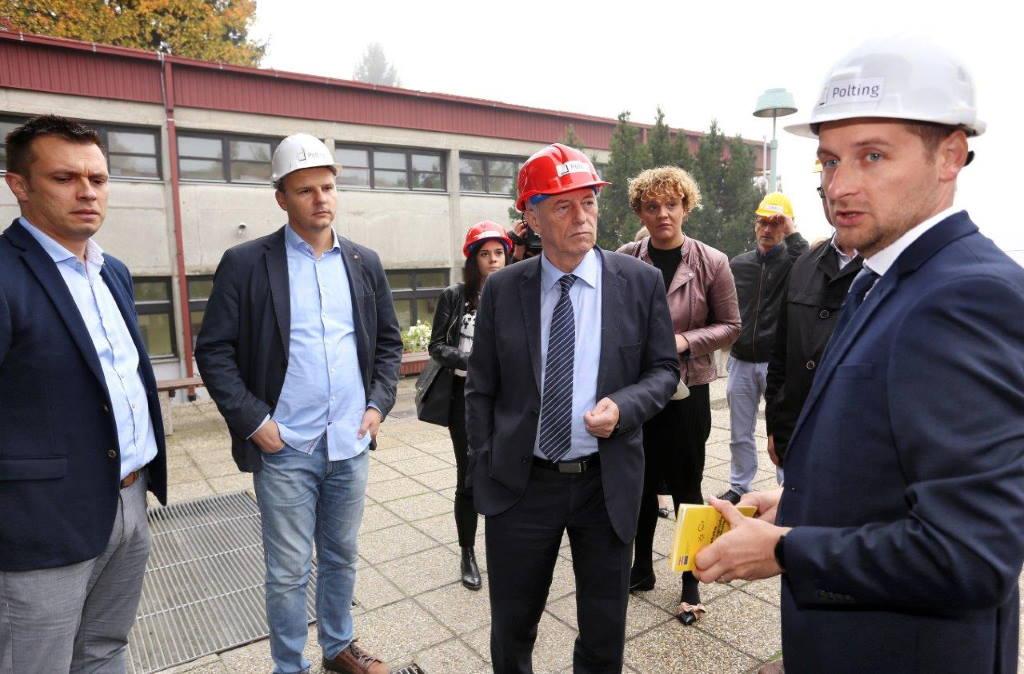 Župan Kožić obišao radova na energetskoj obnovi zgrade Srednje škole u Vrbovcu