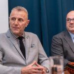 Dr. Vladimir Draženović, voditelj Nacionalnog referentnog centra za gripu, i prof .dr .sc. Ratko Matijević iz Klinike za ženske bolesti i porode KB-a Merkur
