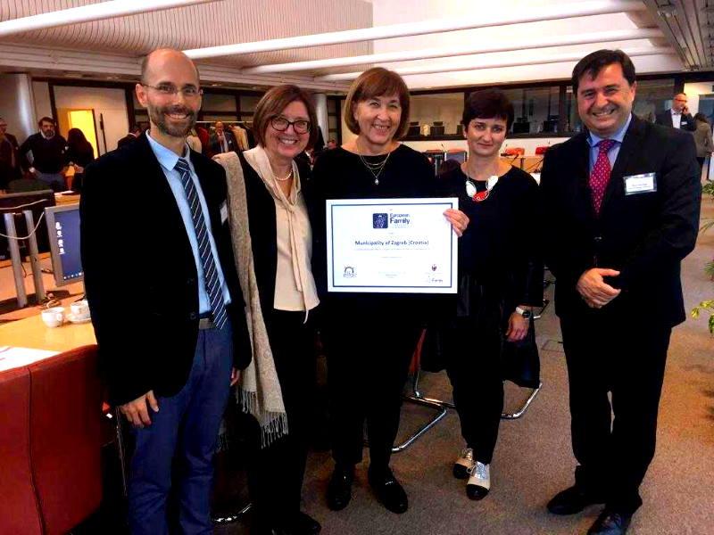 BRUXELLES: Europsko priznanje Zagrebu kao gradu prijatelju velikih obitelji