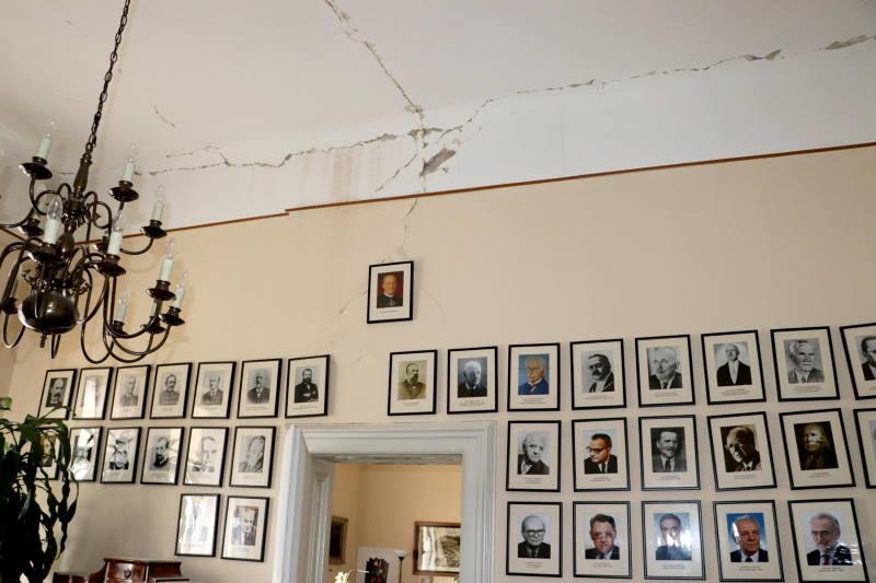 Palača Hrvatske akademije znanosti i umjetnosti pretrpjela je znatna oštećenja [FOTO]