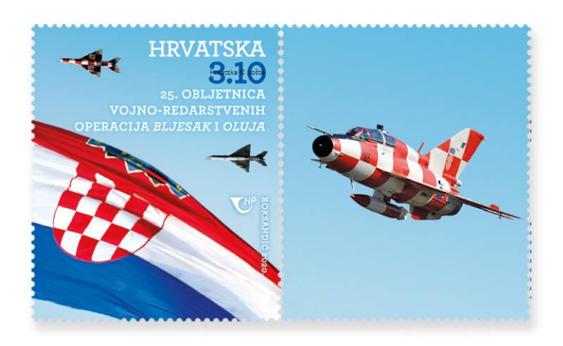 Hrvatska pošta izdaje prigodnu marku u povodu 25. obljetnica vojno-redarstvenih operacija 'Bljesak' i 'Oluja'