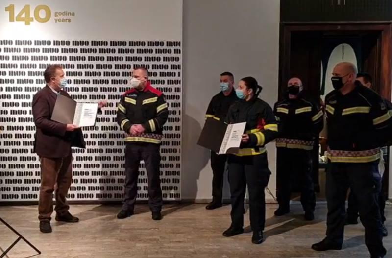 PRIZNANJE HEROJIMA: Muzej za umjetnost i obrt uručio zahvalnice vatrogascima Grada Zagreba