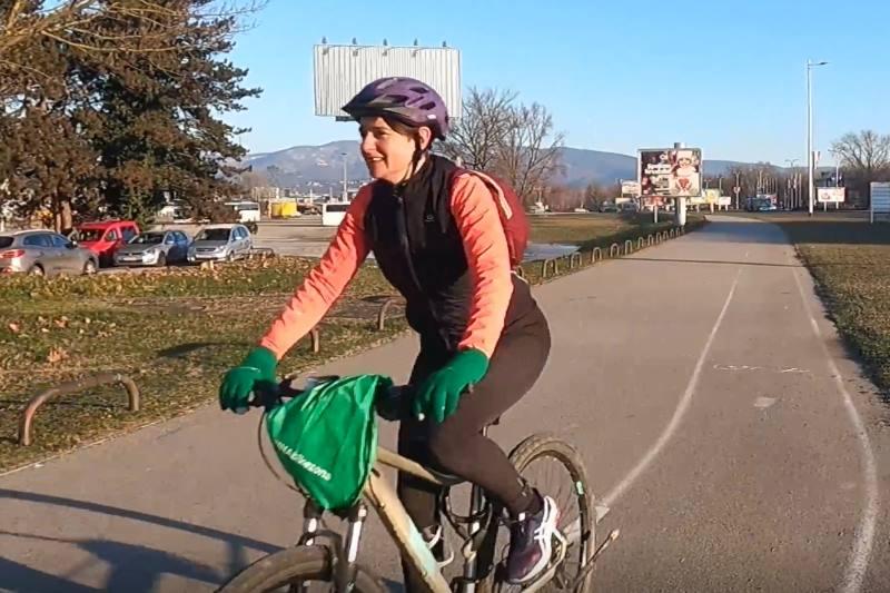 VIDEO REPORTAŽA: Biciklom na posao na šest stupnjeva ispod ništice