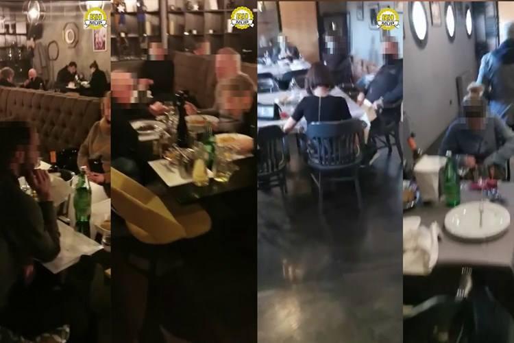 VIDEO: Policija u restoranu zatekla 34 osobe! Naplaćene su kazne, napisane prijave, direktor priveden...