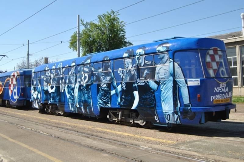 U ČAST 110. OBLJETNICE KLUBA: Zagrebačkim ulicama od danas vozi Dinamov tramvaj