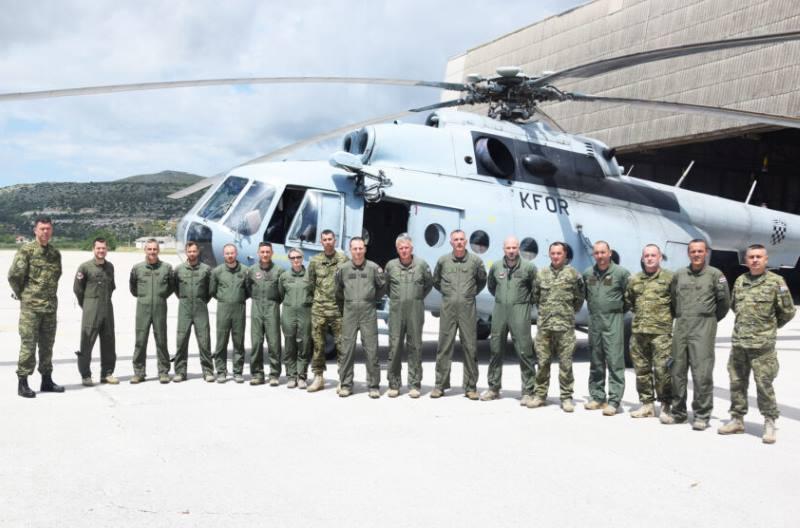 Iz NATO-ve misije na Kosovu vratilo se 13 pripadnika eskadrile transportnih helikoptera HRZ-a